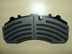 MERITOR Non-asbestos brake pad (D1525-8733,29124,FCV1314B,FCV1857B)