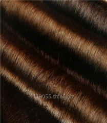 Steel brown mink faux fur fabric