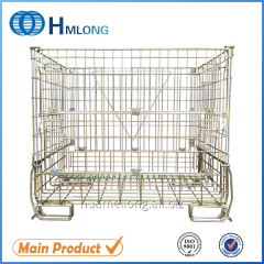 F-16 Collapsible metal steel wire mesh warehouse storage containers