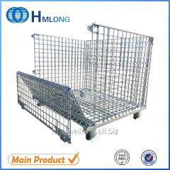 W-1 Galvanized stackable wire foldable storage container