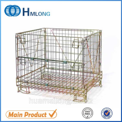 F-10 Euro stackable folded mesh steel cage pallets