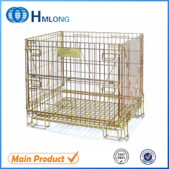 F-14 Supermarket stacking foldable secure storage cage with wheels
