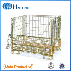 F-16 High quality warehouse folding wire mesh cage