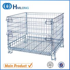 F-17 Galvanized foldable mesh metal storage cage