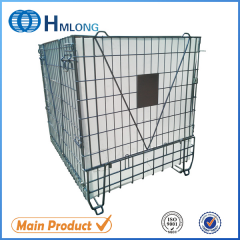 F-28 Foldable steel mesh container for PET Preform storage