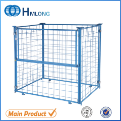 QT-9 Stacking mesh storage collapsible cage pallet