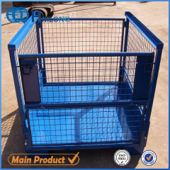 T-7 Heavy duty warehouse wire mesh pallet storage cage auto parts