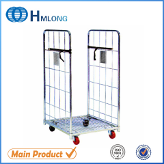 BY-07 2 sides collapsible steel wire roll pallet