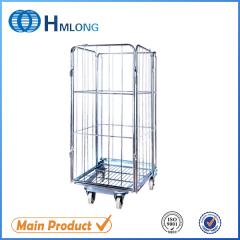 BY-09  Supermarket wire steel storage roll cage pallet