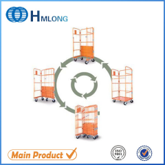 JP-1 Collapsible storage steel warehouse roll cages