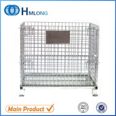 W-1 Heavy duty stackable storage wire mesh container