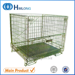 F-5 Warehouse folded wire mesh container for storage