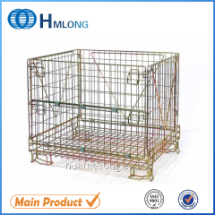 F-10 large collapsible welded metal steel wire mesh storage containers