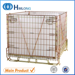 F-22 Warehouse foldable galvanized wire mesh container  pet preform