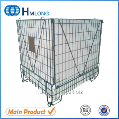 F-28 Large warehouse mesh metal cage storage container for PET Preform