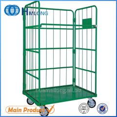 JP-1 Supermarket warehouse folding cargo pallet trolley