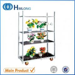 FT-1  Metal show rack flower cart danish trolley