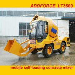 Heavy Duty Truck Vehicle Self Loading Mobile Concrete Mixer Tanker Truck manufacture