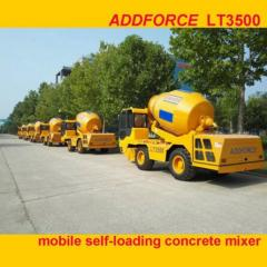 Addforce self loading mobile concrete mixe/rconcrete mixer pump/concrete mixer with pump