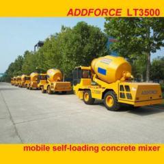 ADDFORCE Brand mobile self-loading concrete mixer truck machine