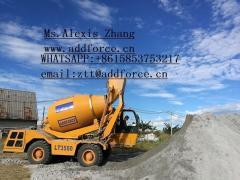 3.5CBM self loading mobile concrete mixer on sale