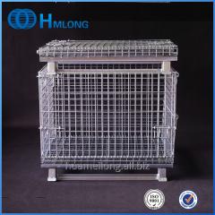 W-1 Industrial stackable welded steel transport wire mesh pallet cage