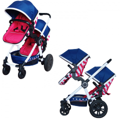 YES-DS027 Double Baby Stroller Twins Stroller