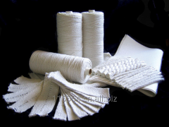 Products from a ceramic (silica-alumina) fibers