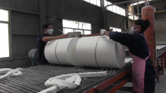 Ceramic fiber mats of refractory ceramic fiber