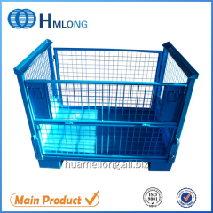 T7 Heavy duty folded wire storage metal cage  for Auto industry