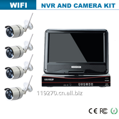 2016 newest 10inch CCTV h.264 8ch nvr kit