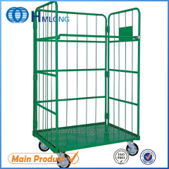 JP-1 Warehouse folded rigid wire mesh roll cage