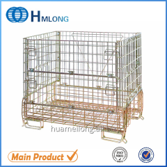 F-16 Warehouse collapsible steel wire mesh cage