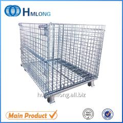 W-1 Warehouse mesh metal storage folding backet box