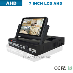AHD DVR with 7inch LCD monitor H.264 PTZ control