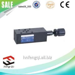 Hydraulic valve superimposed relief valve MRV