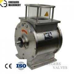 Rotary airlock valve/discharge valve