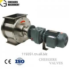 Cheegers stainless steel rotary valves used for grain processing