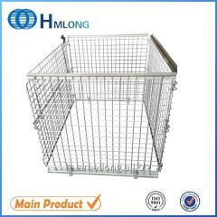 NF-1 Supermarket stackable wire mesh pallet cage