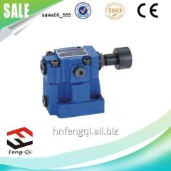 Normally closed solenoid valve pilot relief valve