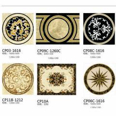 Water-jet Pattern, medallion, flooring tiles, hotel, hall, interior decoration - CP04A Custom made