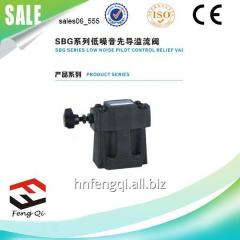 Low noise hydraulic valve Pilot Operated Relief