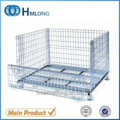 W-1 European rolling folding rigid steel wire mesh basket