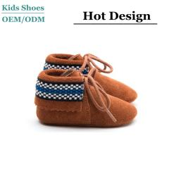 Suede baby boots lace up toddler booties