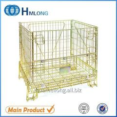 F-1 Industrial wire metal storage folding box