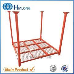 HML-7272WM  adjustable folding steel storage car tire pallet rack auto parts