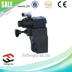 BSG hydraulic valve solenoid control relief valve