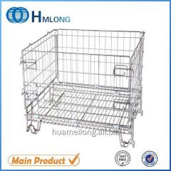 F-19 Stackable wire mesh foldable steel container