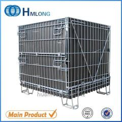 F-14 Collapsible storage galvanized stackable cage