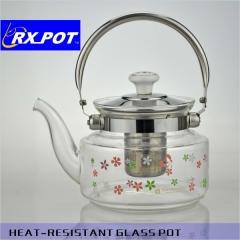 The safest heating resistant glass tea pot set